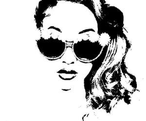 bella, black and white, and effect image