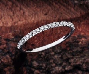 diamond ring, etsy, and wedding bands image