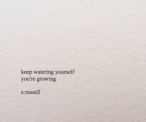 quotes, flowers, and growing image