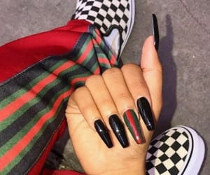 nails, gucci, and acrylic image