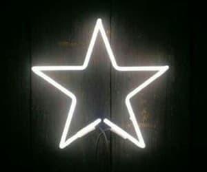 stars, neon, and white image