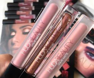 lip stick, make up, and huda beauty image