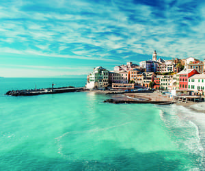 sea, italy, and beach image