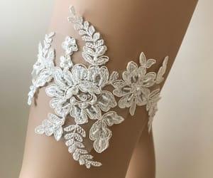 etsy, handmade garter, and beaded lace garter image