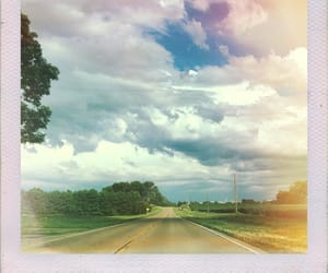 clouds, edit, and highway image