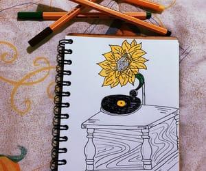sunflower, tumblr, and dibujo image