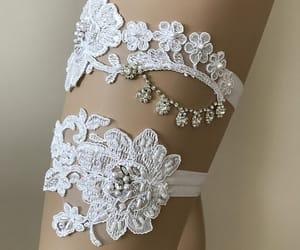 etsy, bridal gift, and wedding garter belt image