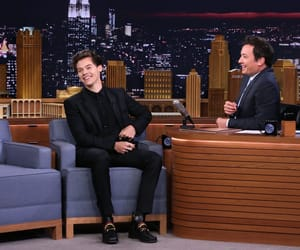 jimmy fallon, harry styles smile, and saturday night live image