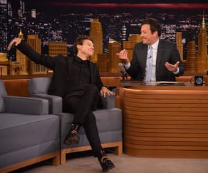Harry Styles and jimmy fallon image