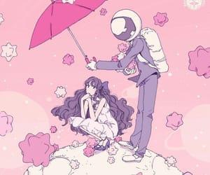 anime, pink, and art image