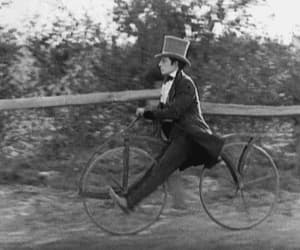 vintage, bike, and buster keaton image