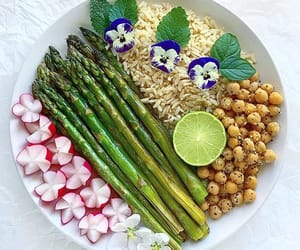 asparagus, food, and lime image