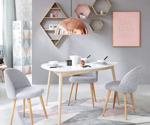 dining, grey, and table image