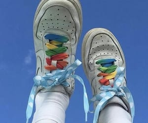 aesthetic, shoes, and rainbow image