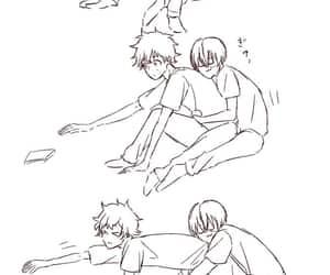 anime couple, anime boy, and boku no hero academia image