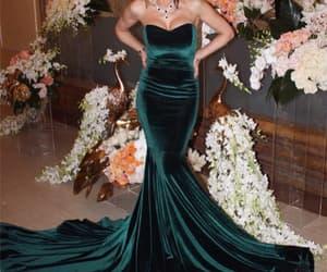 prom dress, sleeveless prom dress, and velvet prom dress image