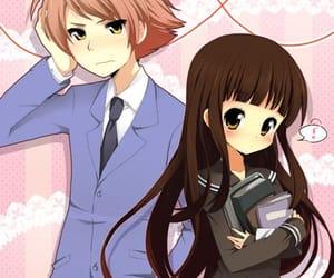 anime, anime girl, and heart image