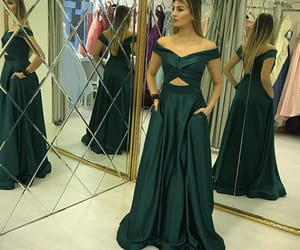 prom dress, two pieces prom dress, and prom gown image