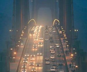 city, bridge, and night image