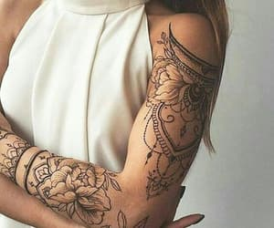 tattoo, girl, and arm image
