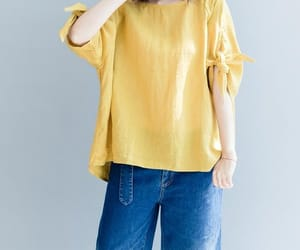 etsy, linen top, and loose fitting shirt image
