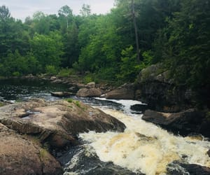 falls, rocks, and nature image