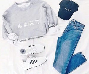 outfit, clothes, and adidas image