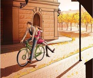 bicicleta, parejas, and cita image
