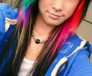 coloredhair, rainbowhair, and hairgoals image