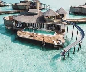 Maldives, ocean, and vacation image