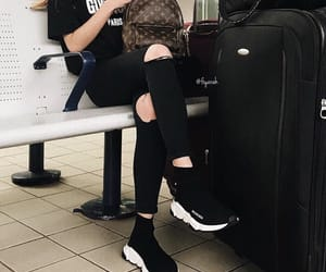 shoes sneakers, louis vuitton lv, and outfit clothes image