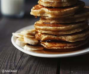 breakfast, pancakes, and banana image