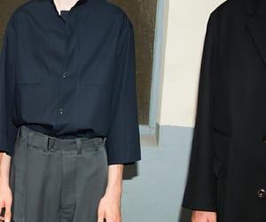 80s fashion, black, and blue image