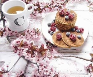 breakfast, cherry, and chic image