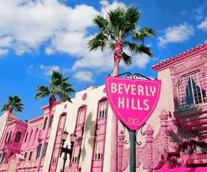 Beverly Hills, pink, and summer image