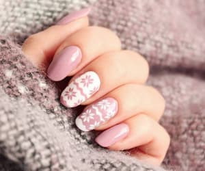 beautiful, ongles, and winter image