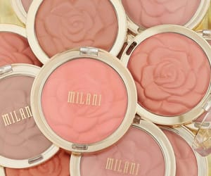 blush, cosmetics, and floral image