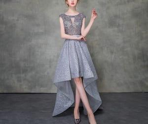 beading, girl, and formal dress image