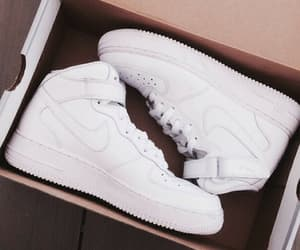 white, nike, and shoes image