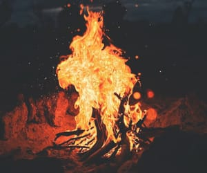 fire, night, and campfire image