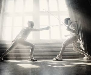 fencing, sport, and aesthetic image
