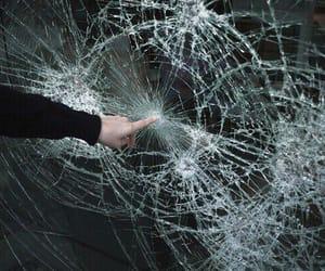 grunge, broken, and glass image