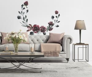 flowers, living room, and style image