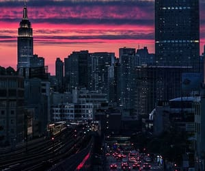 city lights, lights, and orange image