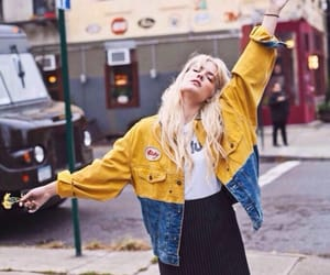 halsey, yellow, and grunge image
