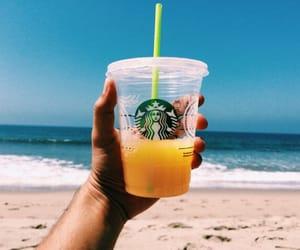 summer, beach, and starbucks image