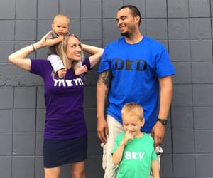 baby, family, and matching image