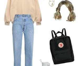 jean, Polyvore, and kanken image