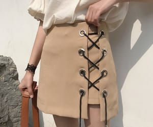 skirt, beige, and fashion image