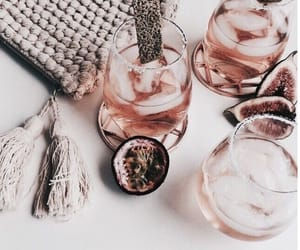 drink, rose gold, and pink image